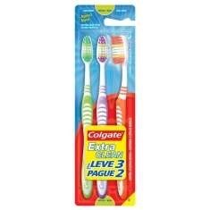 Escova Dental Colgate Exta Clear MaciaLeve 3un Pague 2un