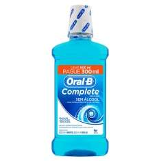 Enxaguante Bucal Oral B Complete Menta Leve 500 mL Pague 300 mL