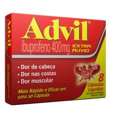 Advil 400mg Com 8 Cápsulas Líquidas