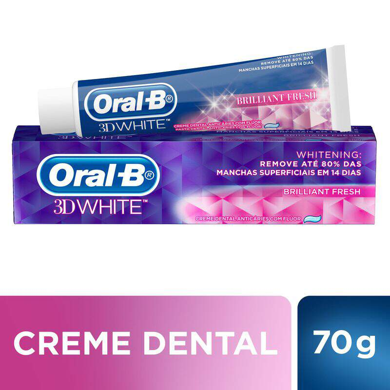b7aedd8dc Creme Dental Oral-B 3D White Brilliant Fresh 70g