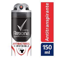 Desodorante Antitranspirante Rexona Men Aerosol Antibacterial + Invisible Com 150 mL